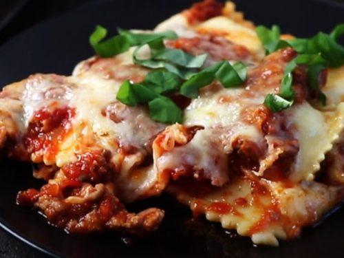 easy ravioli lasagna bake recipe