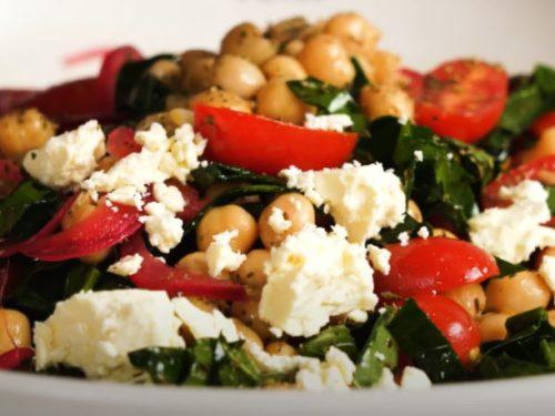greek salad with chickpeas recipe