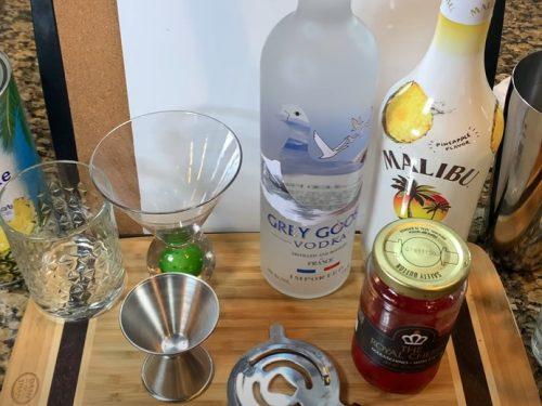 tropical martini recipe