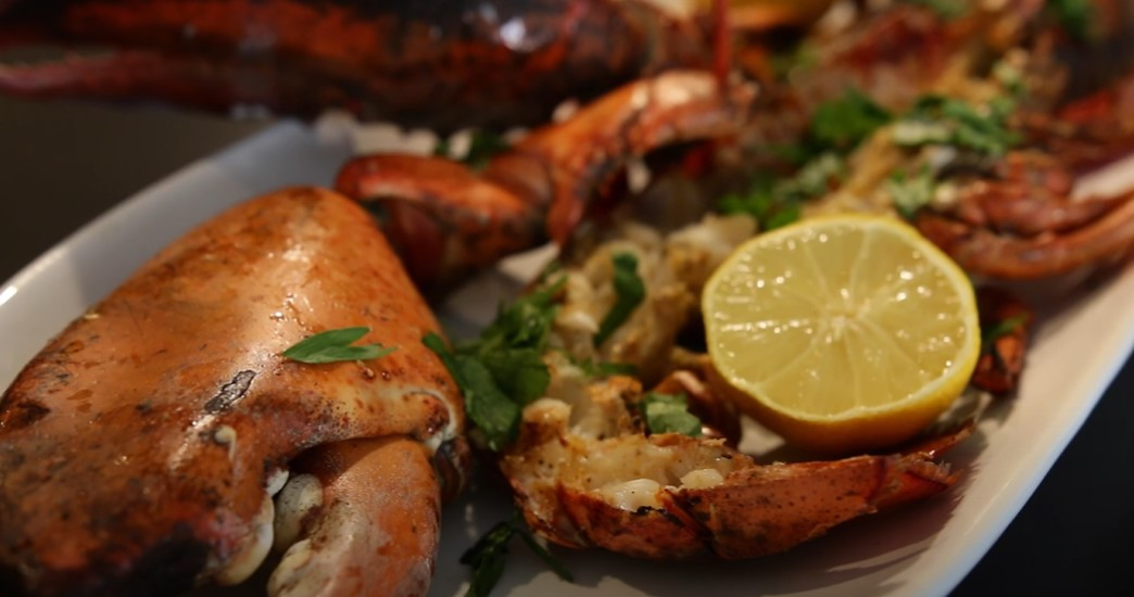 grilled lobster with charred chili sauce recipe