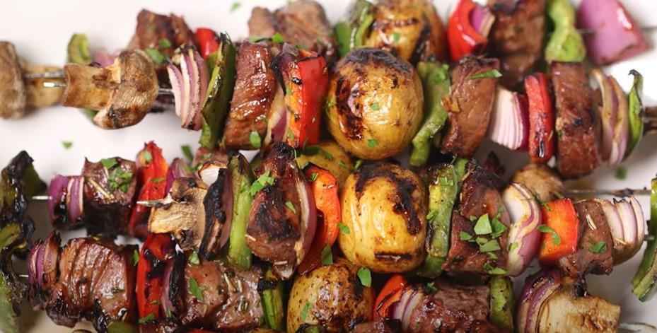 steak kabobs with garlic butter recipe