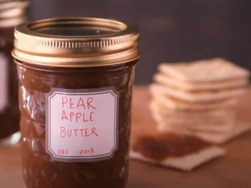 slow cooker cranberry-pear butter recipe
