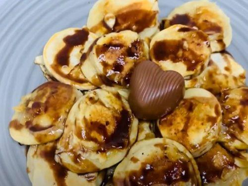 banana split pancake bites recipe
