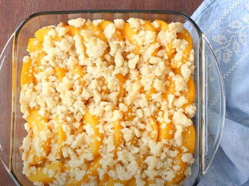 peach melba french toast casserole recipe