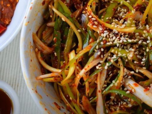 green onion salad recipe