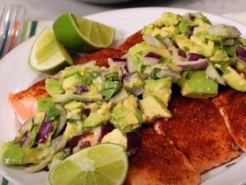 fajita fish with avocado salsa recipe