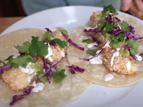 air fryer tzatziki fish tacos recipe