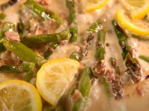 lemon garlic chicken asparagus pasta recipe