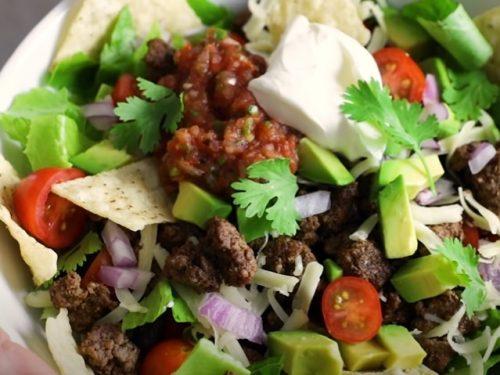 meal prep taco salad recipe