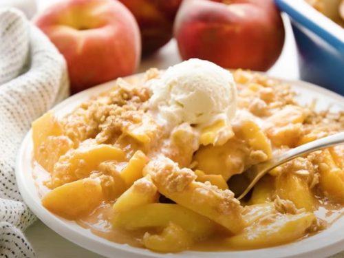 cinnamon peach crunch yogurt cup recipe