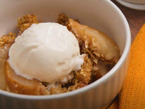 pear and apple crisps recipe