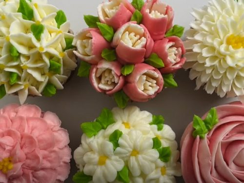 spring flower cupcakes recipe