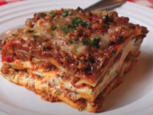 loaded beef lasagna recipe