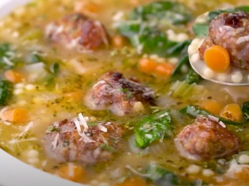 escarole soup with turkey meatballs (italian wedding soup) recipe