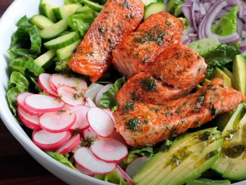 salmon avocado salad recipe