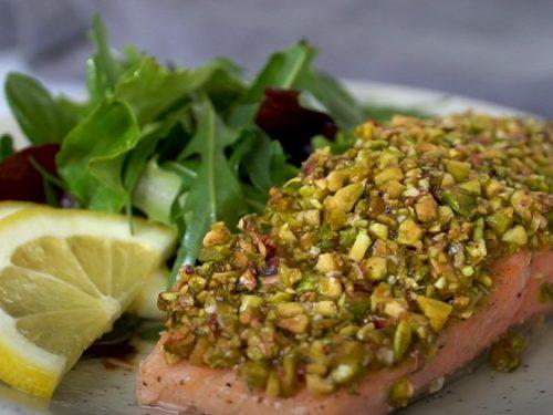 grilled pistachio salmon recipe