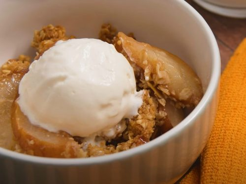 baked pear crumble recipe