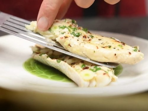red snapper in grape leaves with caper butter recipe