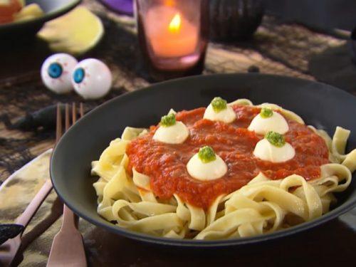 eyeballs for halloween spaghetti recipe