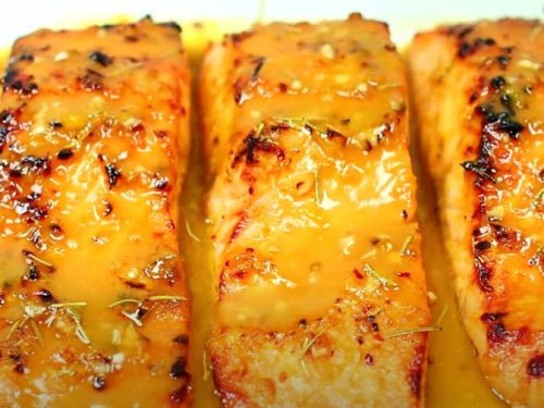 orange-rosemary glazed salmon recipe