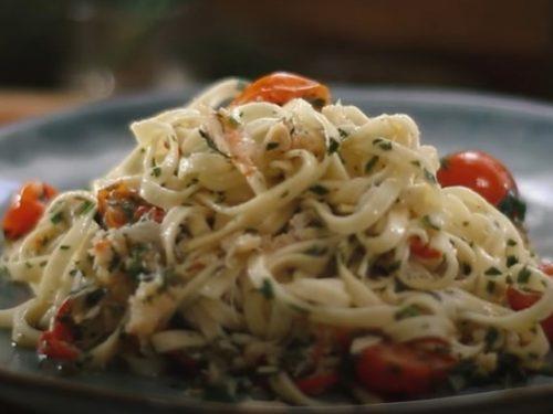crab parmesan linguine recipe