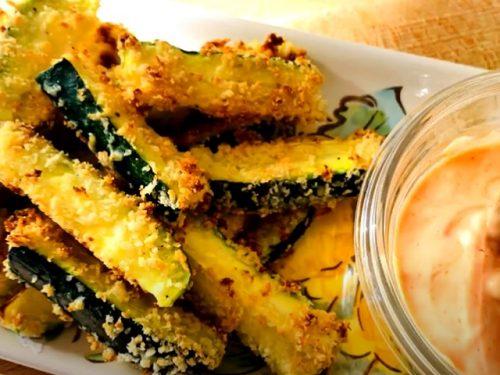 crispy parmesan fried zucchini recipe