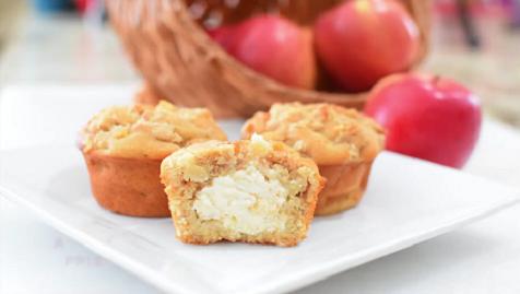 apple cream cheese crumb muffins recipe