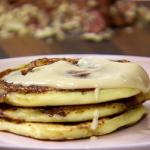 banana bread pancakes with cream cheese glaze recipe