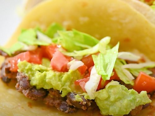 Black Bean and Vegetable Tacos Recipe