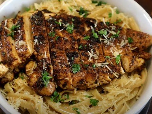 blackened chicken alfredo recipe