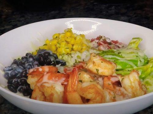 Blackened Shrimp Avocado Burrito Bowls Recipe