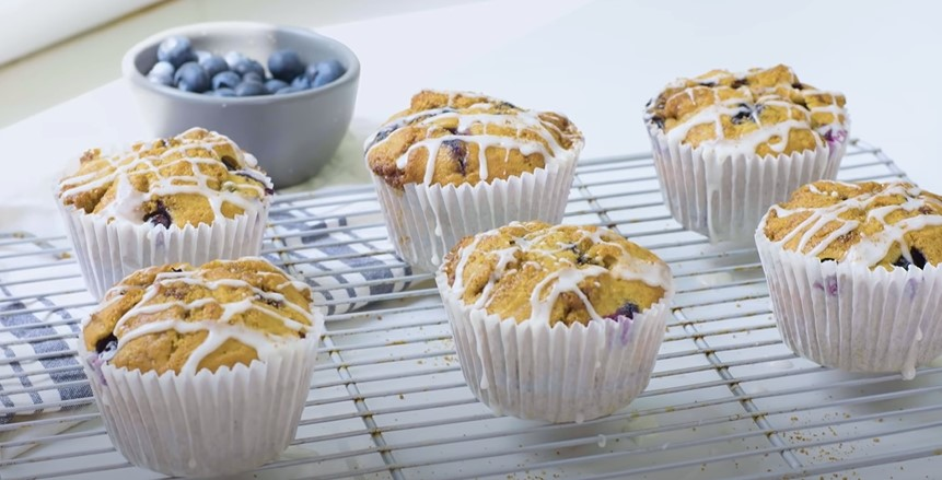 Blueberry Muffins with a Sugared Glaze Recipe