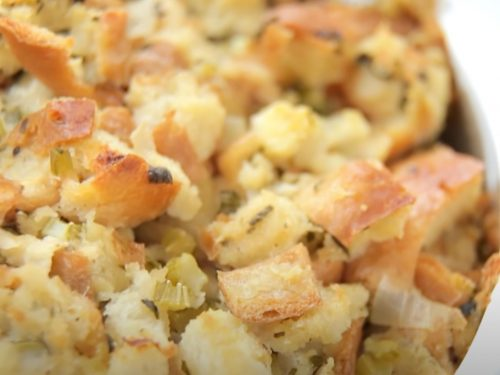 Bread Stuffing with Pancetta and Figs Recipe