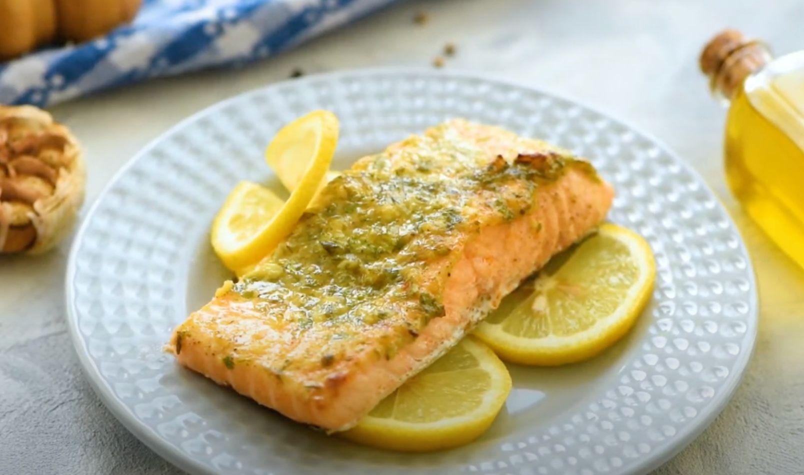 Honey Garlic Dijon Broiled Salmon Recipe