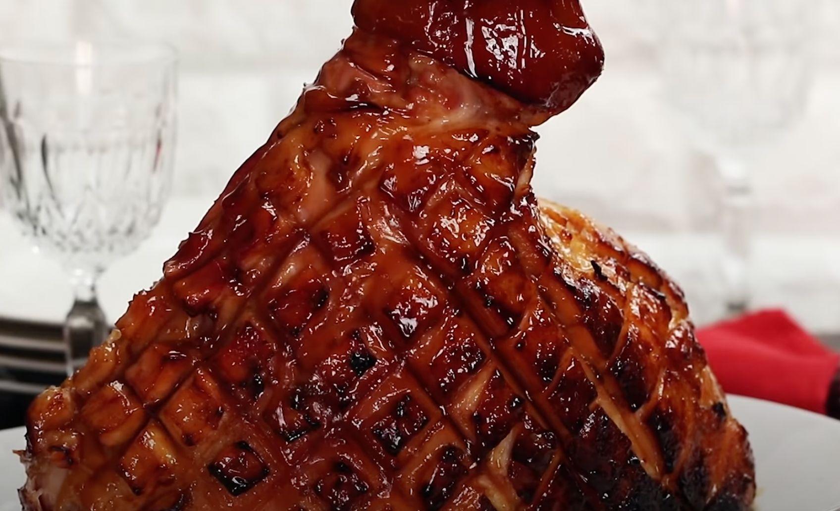 Spiced Rub Brown Sugar Pineapple Glazed Ham Recipe