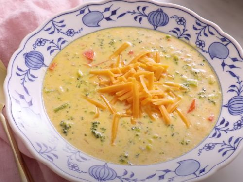 Cheesy Vegetable Soup Recipe