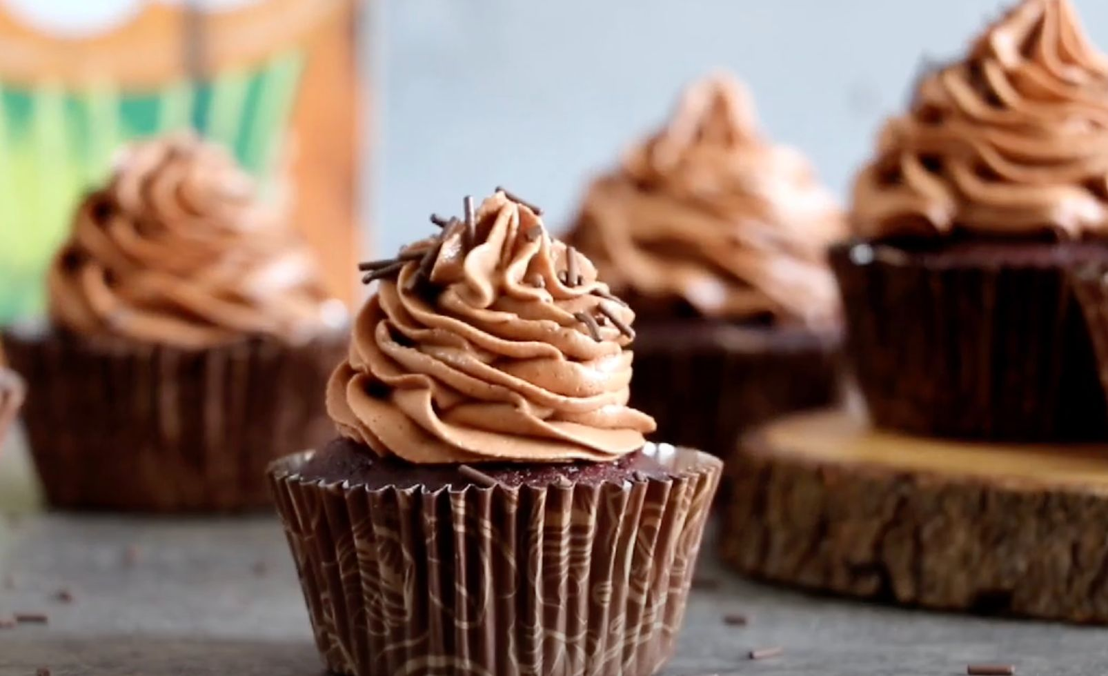 Chocolate Zucchini Cupcakes with Chocolate Cream Cheese Frosting Recipe