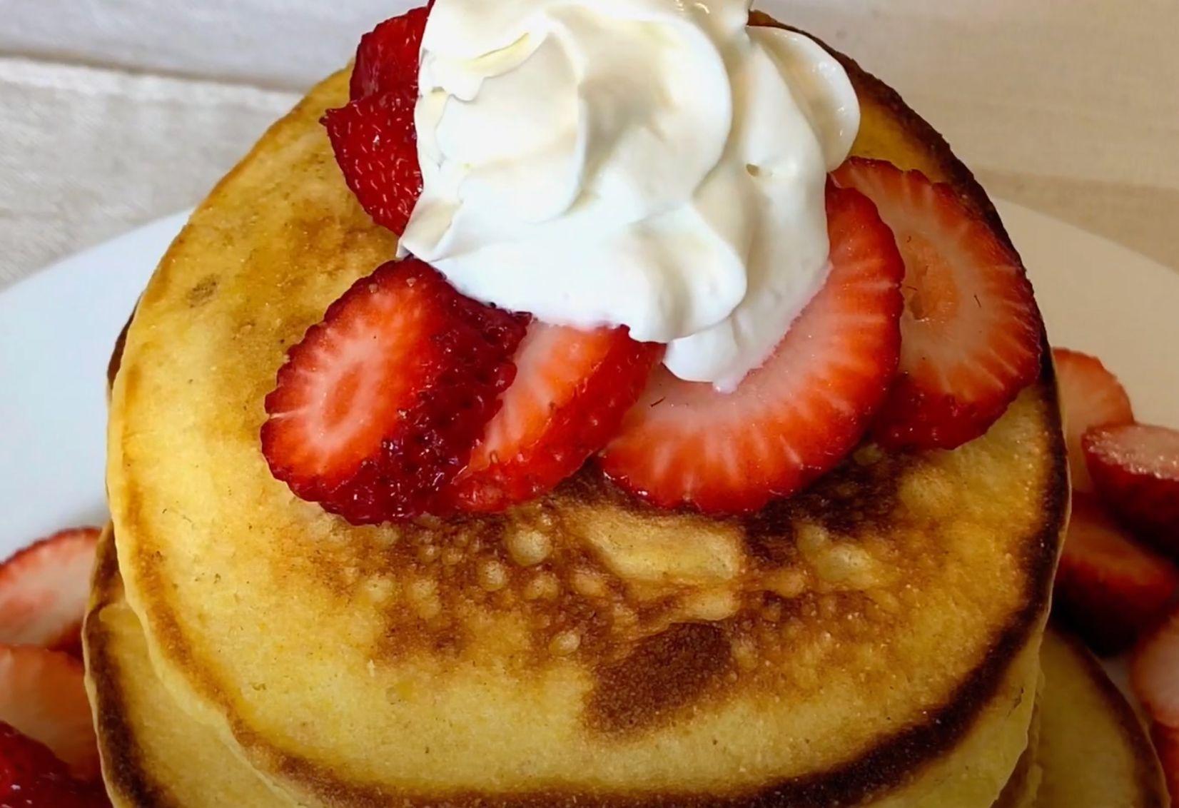 Cinnamon Polenta Pancakes Recipe
