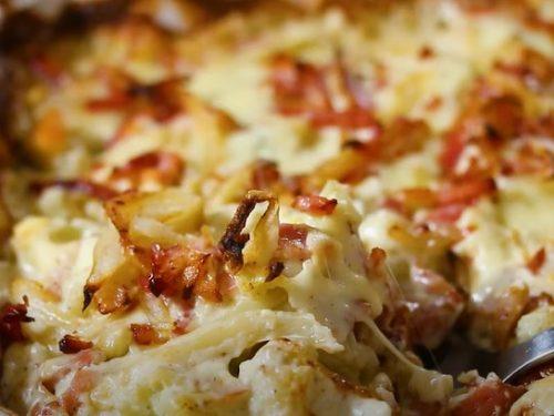 Creamy Cauliflower Au Gratin with Bacon Recipe