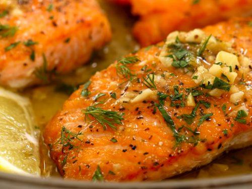 fried salmon recipe