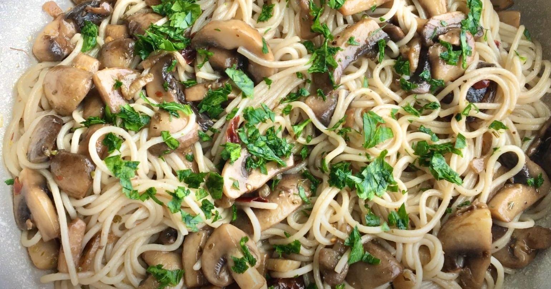 Garlic Mushroom Noodles Recipe