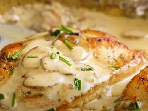 Mushroom Sauce Chicken Recipe