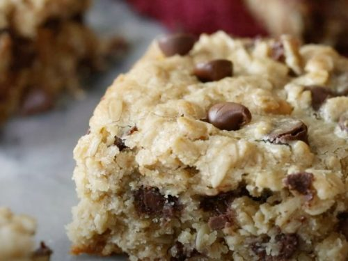 Oatmeal Chocolate Chip Cookie Bars Recipe