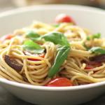pasta with artichokes tomatoes and feta recipe