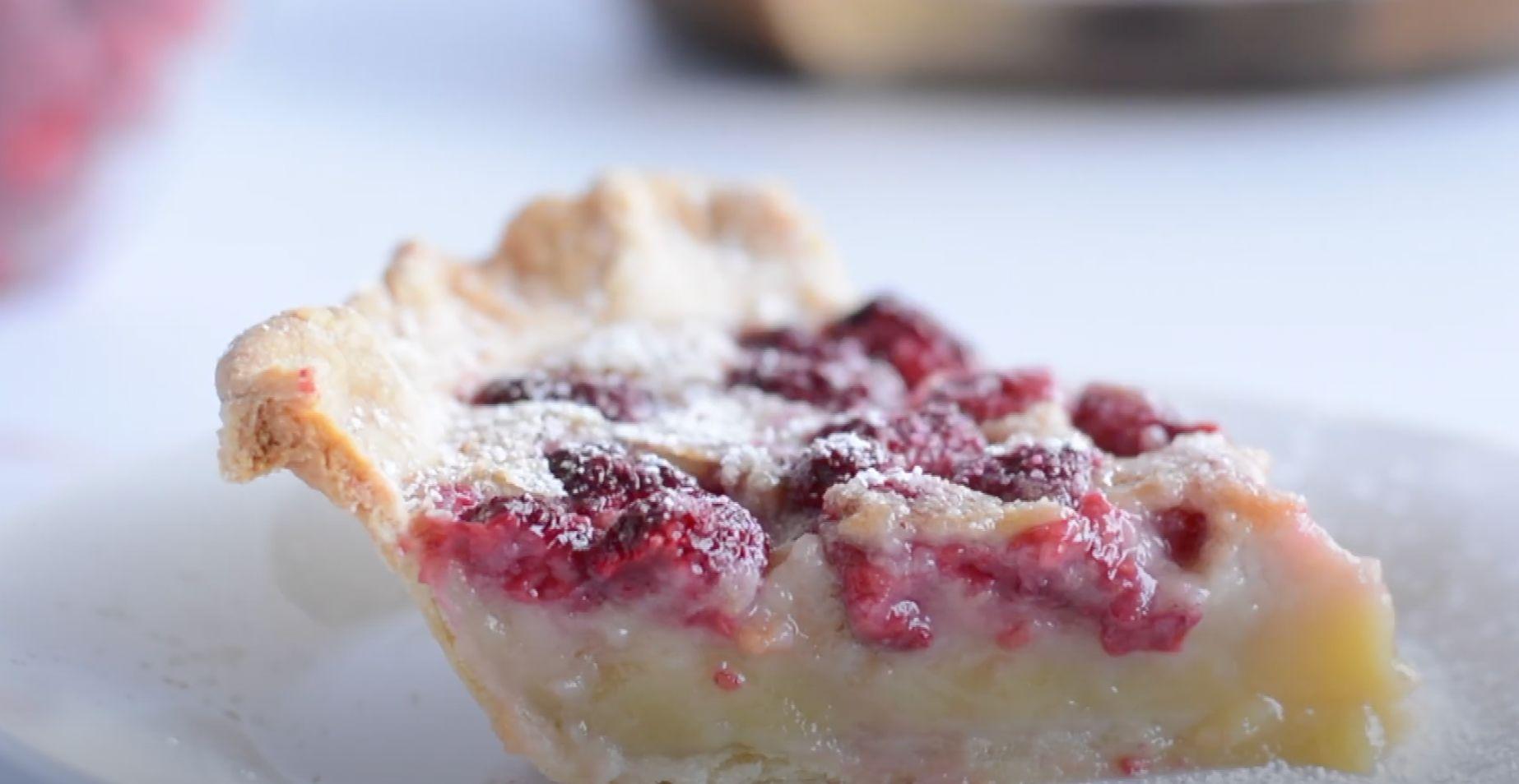 Raspberry Custard Pie Recipe