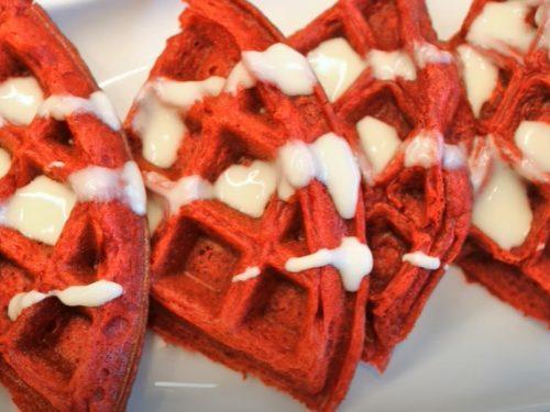 red waffles recipe
