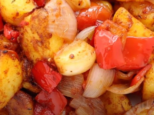 Skillet Potatoes with Peppers Recipe