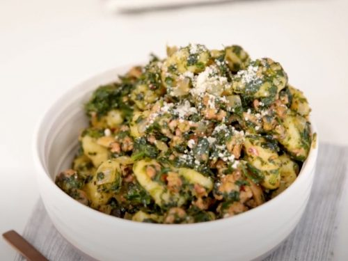 Spinach and Sausage Gnocchi with Sage Recipe
