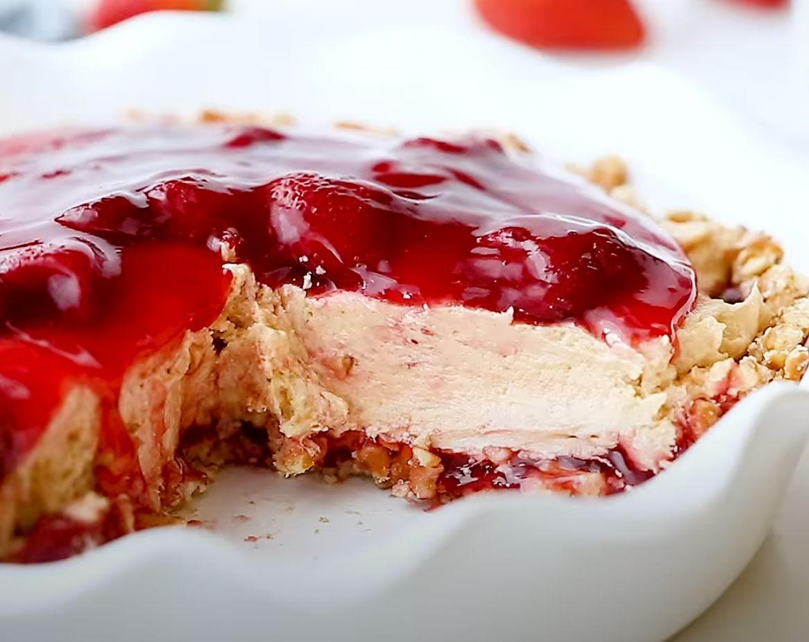 Strawberry Peanut Butter Pie Recipe