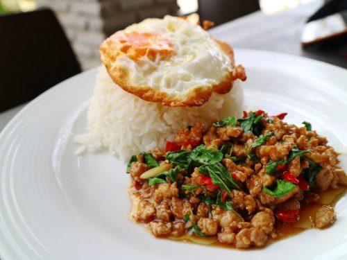 20-minute thai basil chicken recipe